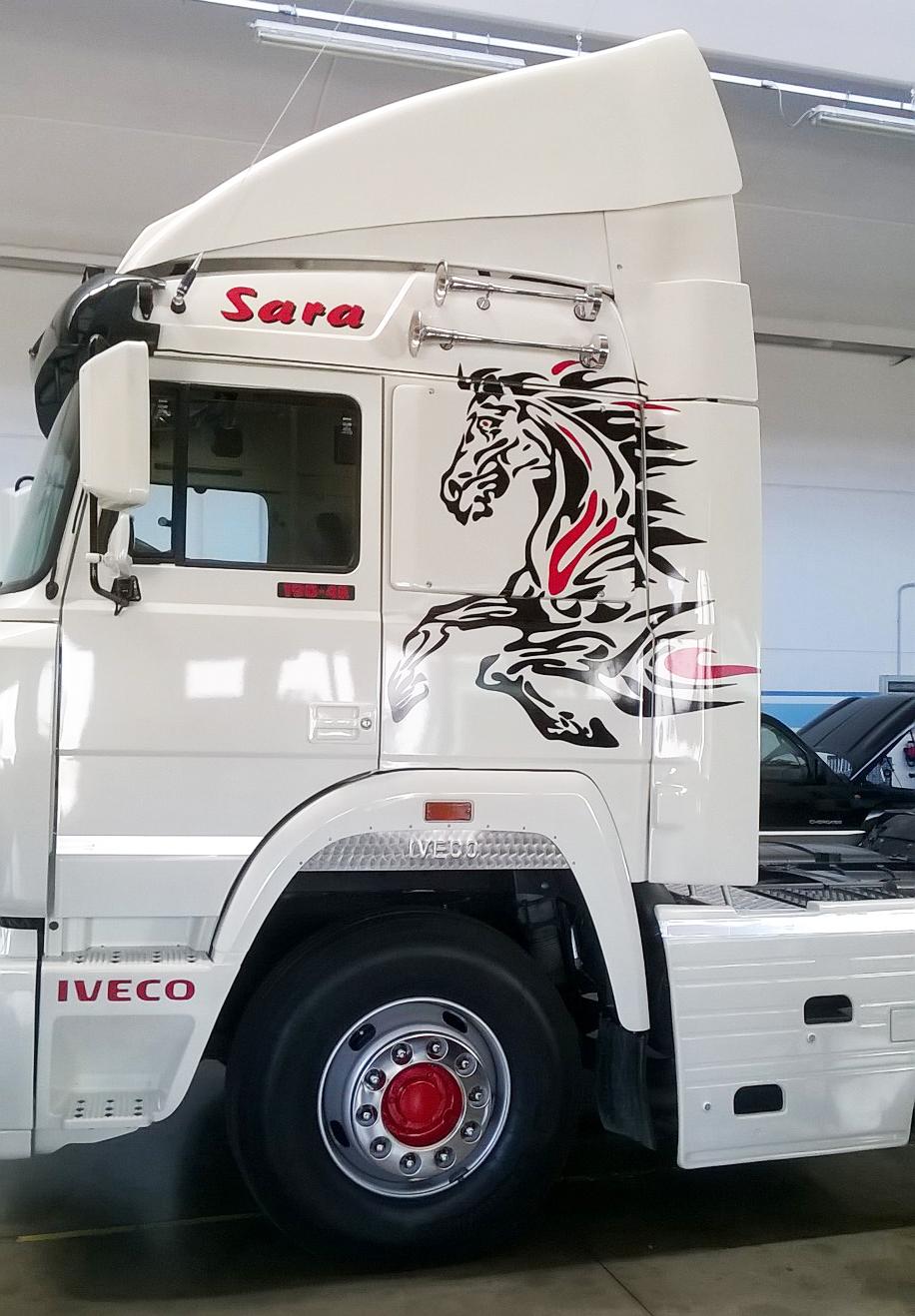 Decorazione Camion Adesiva E Teloni Serigrafati Black